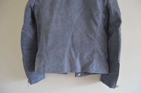 Balmain 1 of 1 Greyish Blue Suede Biker Size US M / EU 48-50 / 2 - 7