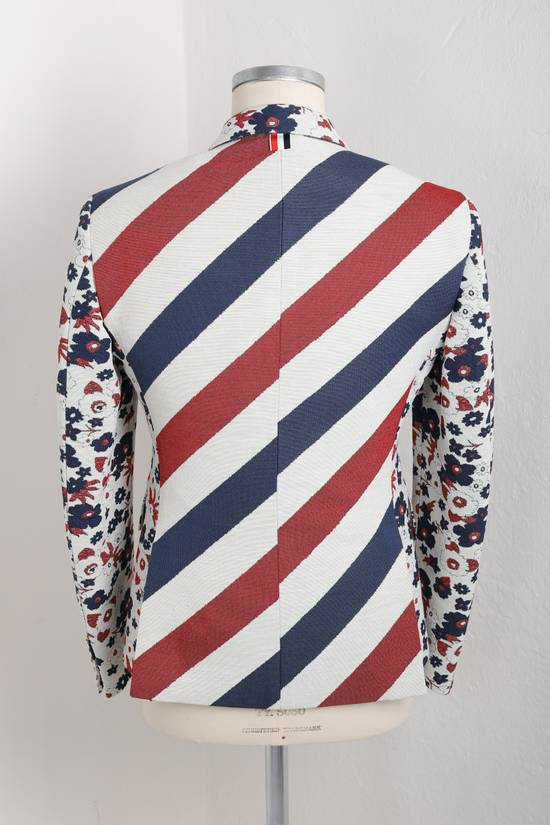 Thom Browne Floral jacket with RWB stripes Size 42R - 2
