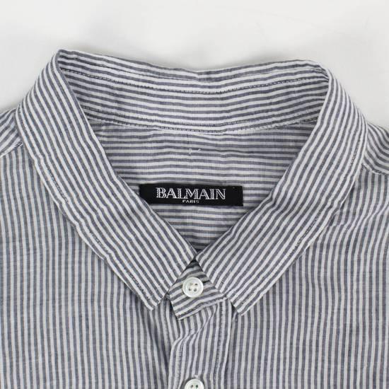 Balmain Navy Striped Button Down Casual Shirt Size 15.5 US 39 EU Size US XXS / EU 40 - 2
