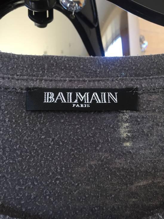 Balmain Grey Silk Tee Size US M / EU 48-50 / 2 - 5