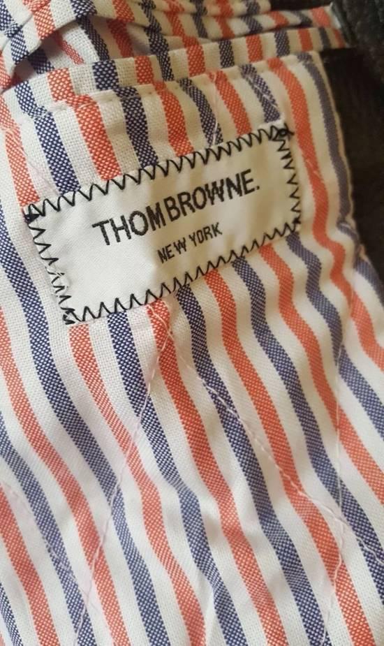 Thom Browne 4 Bar Stripe Leather Bomber Jacket Black Size US S / EU 44-46 / 1 - 3
