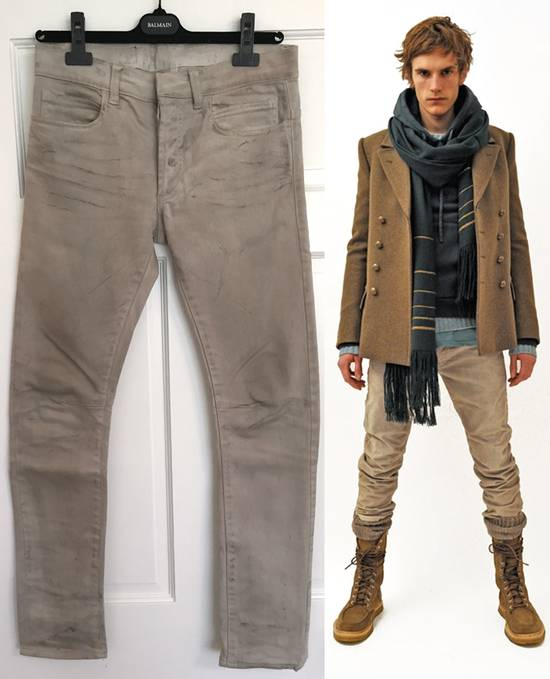"Balmain FW11 Decarnin ""Dirty"" Slim Jeans. (fit 28) Size US 29"