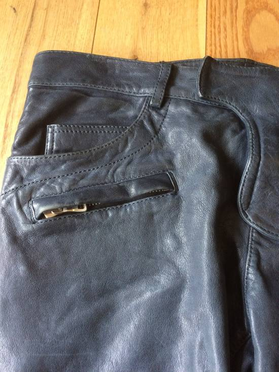 Balmain Balmain Grey Leather Mens Trousers Size US 34 / EU 50 - 3