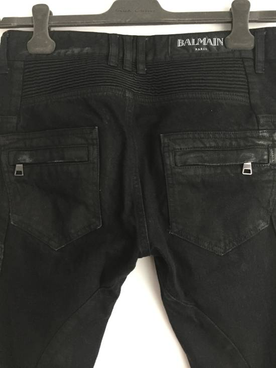 Balmain Distress Waxed Jeans Size US 28 / EU 44 - 8