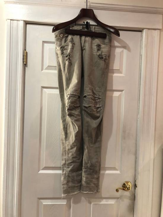 Julius Julius Neurbanvolker Biker Distressed Denim Pants Size US 31