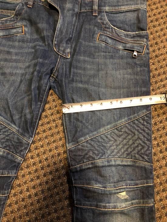 Balmain Balmain Geometric Quilted Paneled Biker Denim Jeans Size 32 Size US 32 / EU 48 - 11