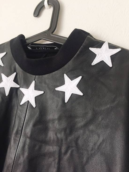 Givenchy Givenchy Star Neck Leather Shirt With Stripe Cuff Size US S / EU 44-46 / 1 - 2
