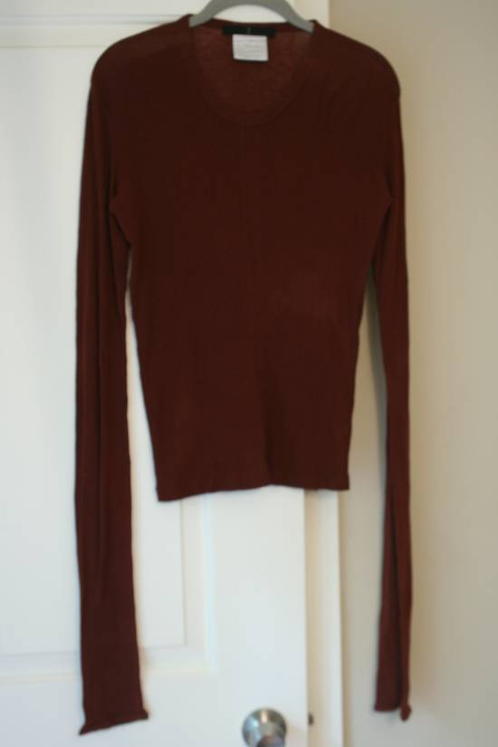 Julius FW08 Blood Red Cotton/Cashmere Rib L/S Size US S / EU 44-46 / 1 - 4