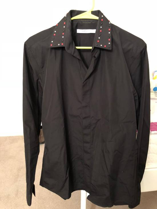Givenchy Givenchy Black Studded Collar Shirt Size US XL / EU 56 / 4