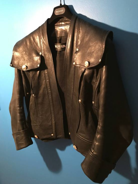 Balmain Lambskin Gold Button Detail Jacket Size US L / EU 52-54 / 3 - 2