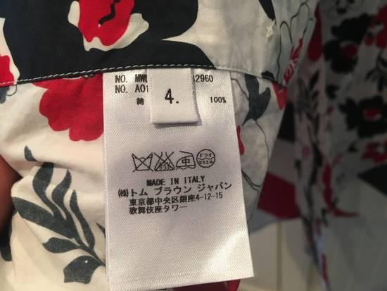 Thom Browne Floral Print Diagonal Stripe Poplin Cotton Shirt Size US XL / EU 56 / 4 - 5