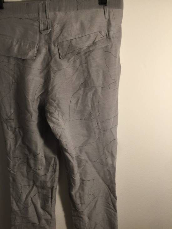 Julius MA JULIUS RUNWAY SAMPLE MARBLE PRINT TROUSERS VERY RARE Size US 28 / EU 44 - 3