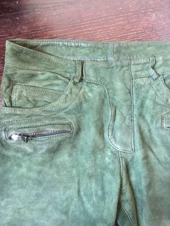 Balmain Balmain FW 2012 Green Suede lambskin Pants Size US 29 - 10