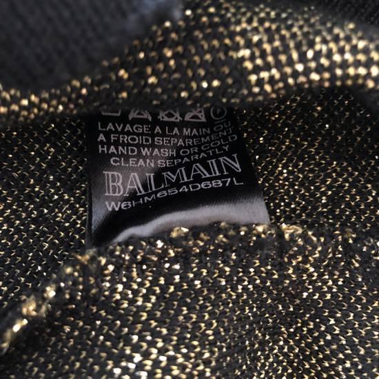 Balmain RARE RUNWAY Balmain Paris Black & Gold Wool Glitter Sweater Size US S / EU 44-46 / 1 - 5