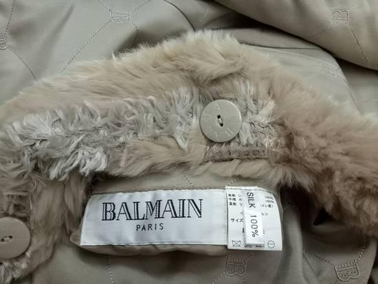 Balmain 🔥FINALDROP♨Reversible Balmain Paris Fur and Silk Jacket RARE Design Size US L / EU 52-54 / 3 - 14