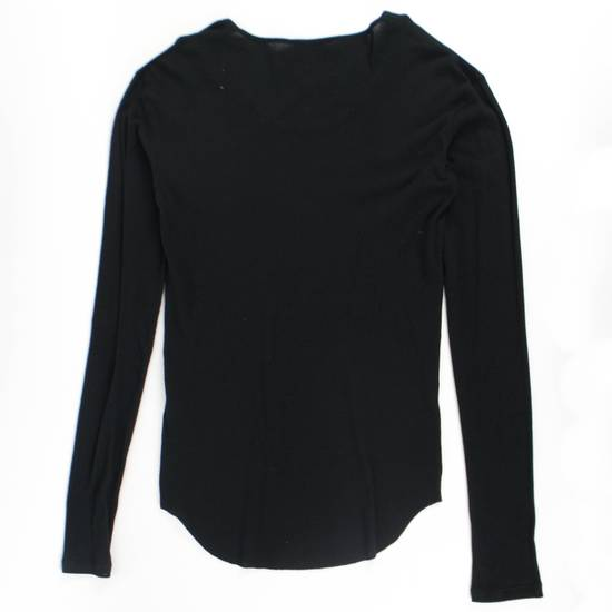 Balmain Black Cotton Ribbed Long Sleeve Crewneck T-Shirt Size XL Size US XL / EU 56 / 4 - 2