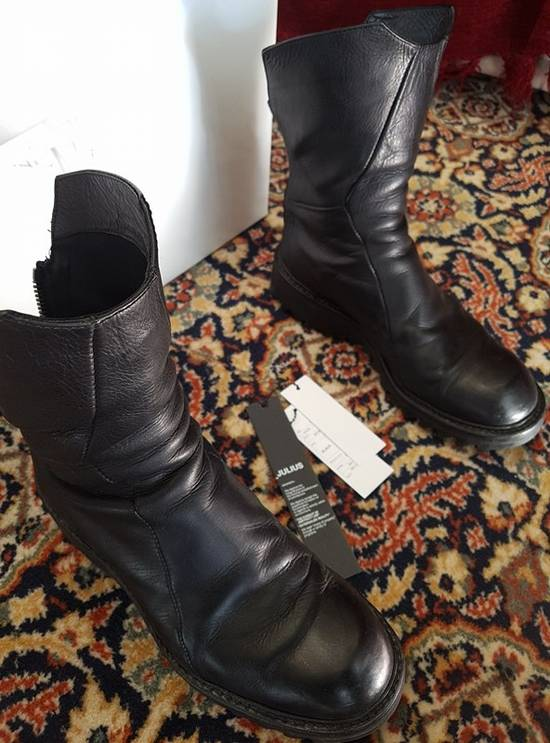 Julius Black Coated Calf High-zip Boots Size2 Size US 9.5 / EU 42-43 - 1