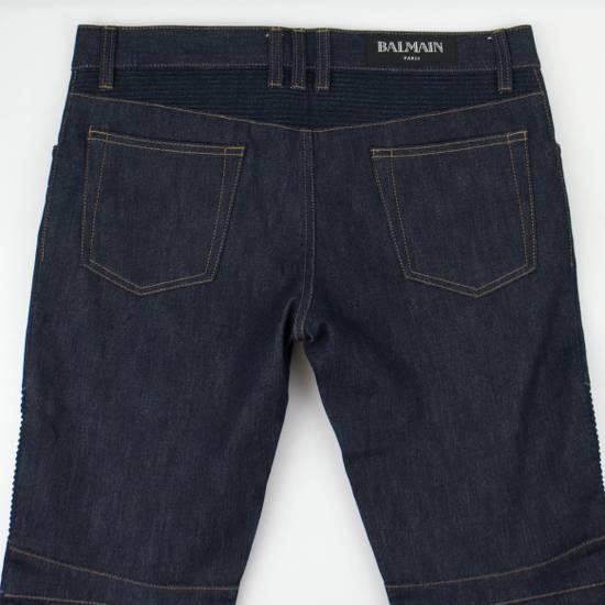 Balmain Blue Denim 'Biker Brut' Slim Fit Jeans Pants Size US 32 / EU 48 - 4