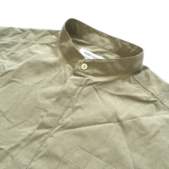 Balmain Tan Band Collar Metal Logo Shirt NWT Size US M / EU 48-50 / 2 - 1