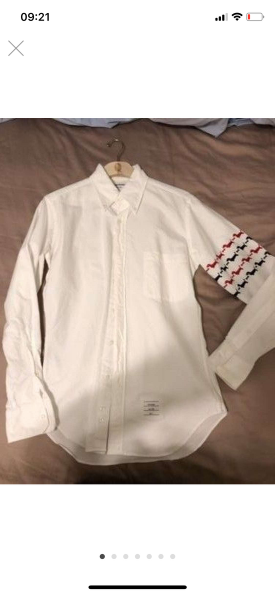 Thom Browne hector embroidered arm stripe shirt Size US M / EU 48-50 / 2