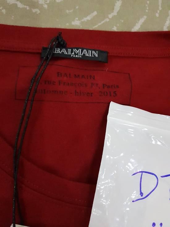 Balmain Red Balmain Logo T-Shirt Size US M / EU 48-50 / 2 - 1