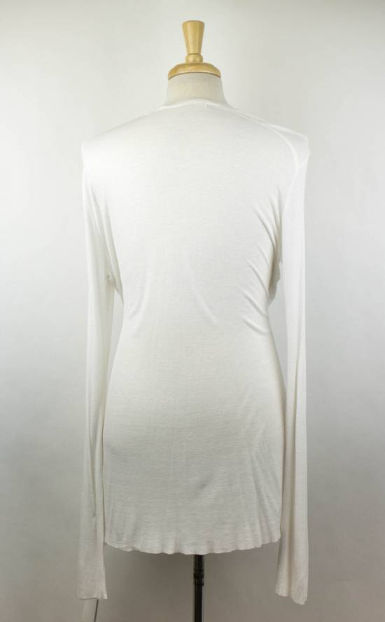 Julius 7 White Silk Blend Long Sleeve Long Ribbed Crewneck T-Shirt 3/M Size US M / EU 48-50 / 2 - 2
