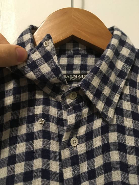 Balmain AW11 Blue Gingham Shirt Size US S / EU 44-46 / 1 - 2