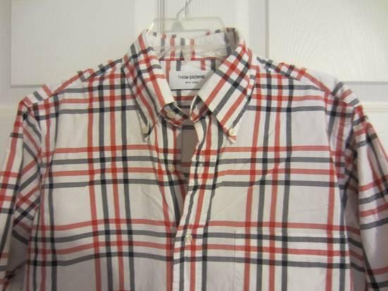 Thom Browne Classic Large Check Plaid Oxford Shirt Size US L / EU 52-54 / 3