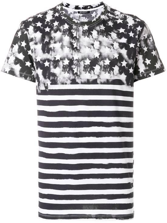 Balmain Flag Print T-shirt Size US L / EU 52-54 / 3 - 1