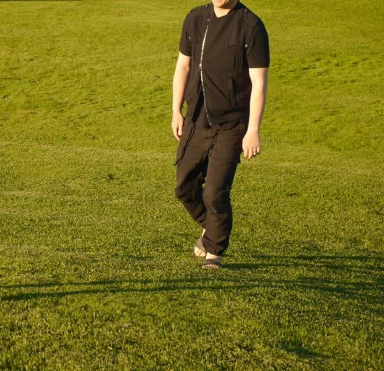 Balmain Black Moto Jersey Vest Size US M / EU 48-50 / 2 - 3