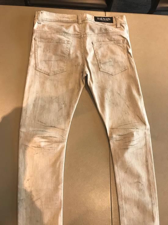 "Balmain FW11 Decarnin ""Dirty"" Skinny Jeans (dirty white/tan Color) Size US 30 / EU 46 - 5"