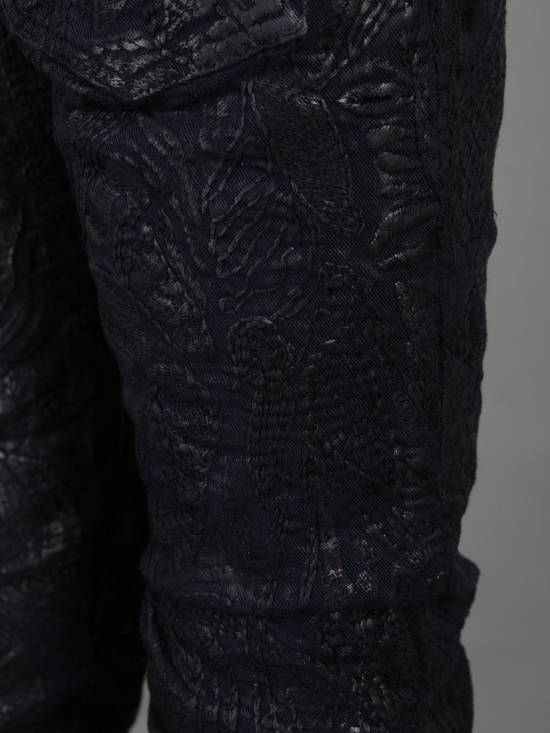 Balmain Midnight Blue Waxed Embroidered Jeans Size US 27 - 18