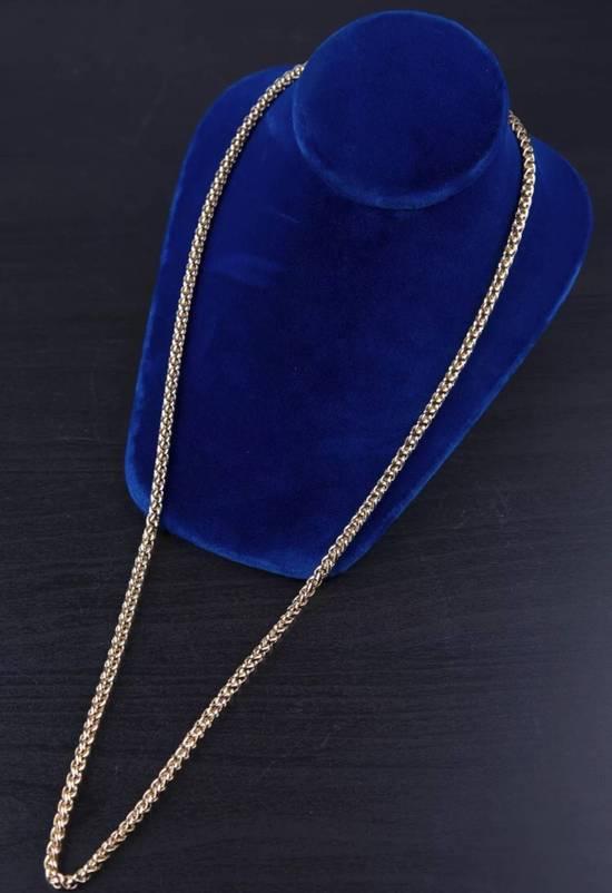 Givenchy 14KGP Givenchy Vintage Gold Razor Style Necklace Size ONE SIZE