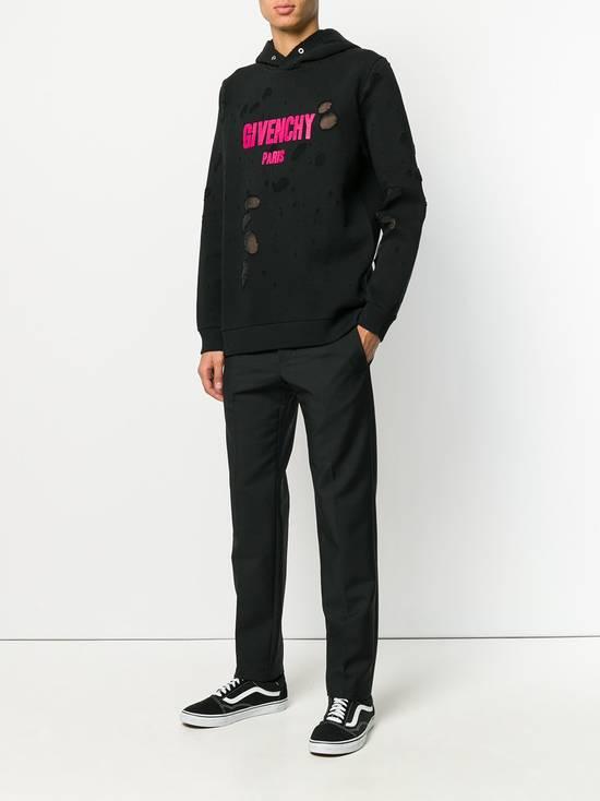 Givenchy Destroyed Fuchsia Logo Hoodie Size US L / EU 52-54 / 3 - 2