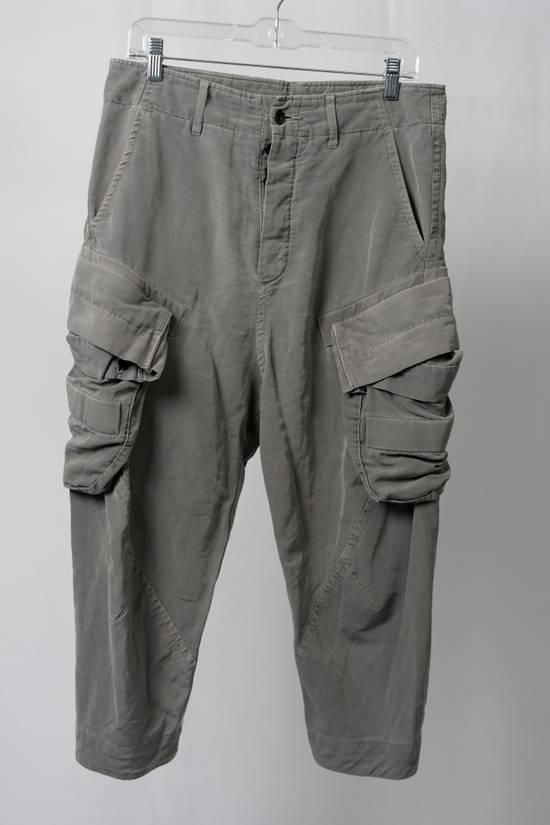 Julius SS12 'Edge' Grey Gasmask Cargo Cropped Pants Size US 31 - 2