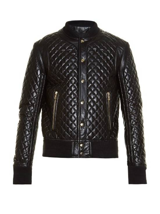 Balmain Balmain Quilted Leather Bomber Varsity Jacket Size 50 Black FW16/17 Brand New $5245 Size US M / EU 48-50 / 2 - 4