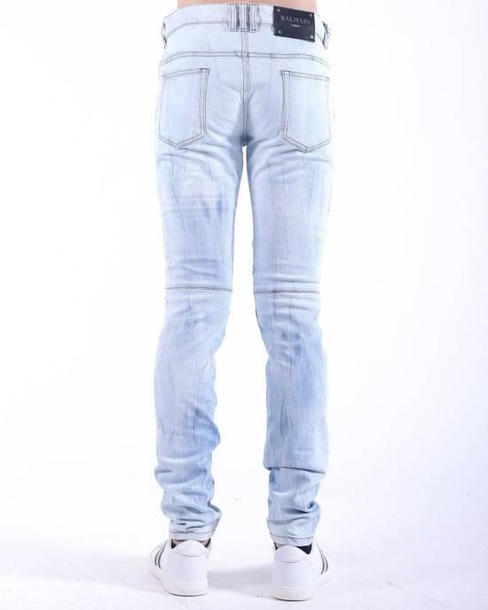 Balmain Balmain Light Blue Biker Skinny Authentic $950 Jeans Size 31 Size US 31 - 2