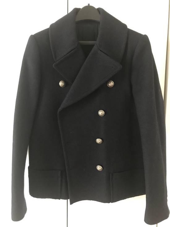 Balmain Navy Short Cut Pea Coat Size US S / EU 44-46 / 1 - 1