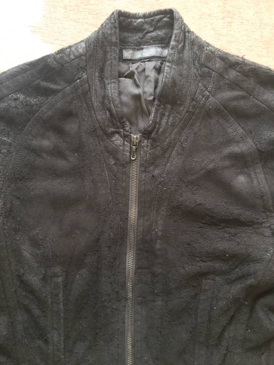Julius $2200 Lamb Leather Blistered And Reversed Moto Jacket Made In Japan In Mint Condition Size US M / EU 48-50 / 2 - 7