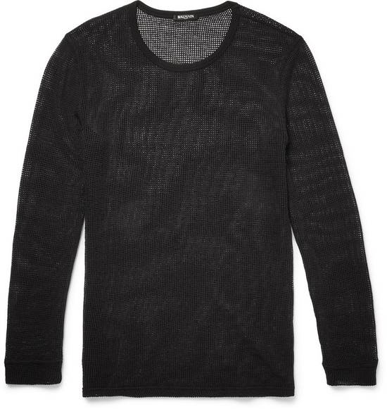 Balmain Balmain Basketweave-Knit Cotton and Linen-Blend Top BRAND NEW WITH TAGS Size US S / EU 44-46 / 1 - 1