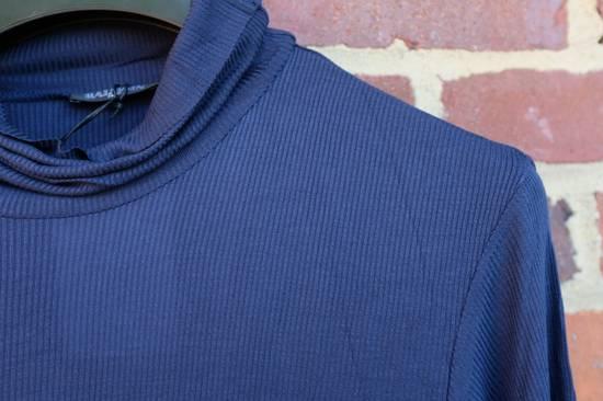 Balmain Blue Ribbed Knit Roll Neck T-shirt Size US M / EU 48-50 / 2 - 2