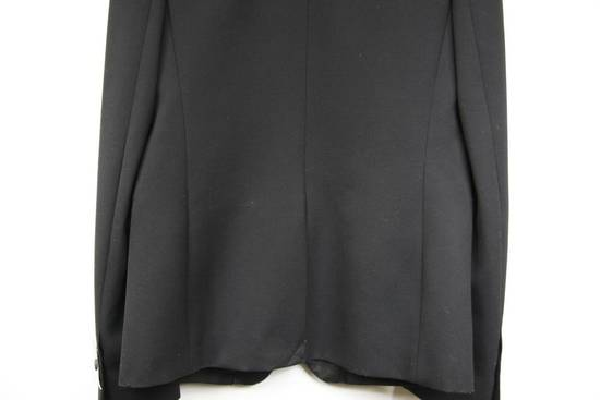 Balmain RARE $4k+ SS12 Balmain Black Perforated Leather Peak Lapel Jacket Blouson 50 48 Size 40R - 5