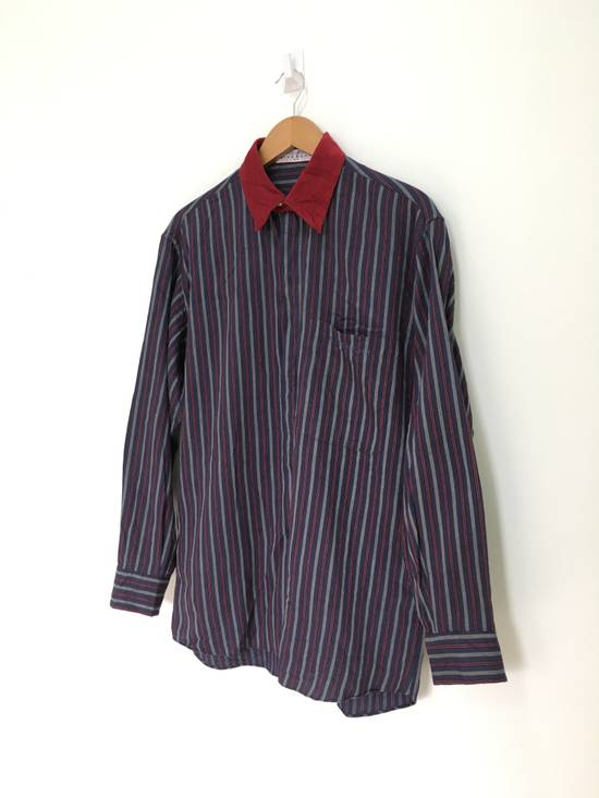 Givenchy Gentleman Givenchy Indigo Red Stripes Casual Shirt Made in Italy Size US M / EU 48-50 / 2 - 3