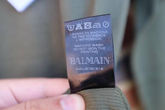 Balmain Khaki Ribbed Knit Long Sleeve T-shirt Size US S / EU 44-46 / 1 - 5