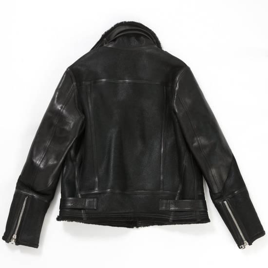 Balmain Shearling Leather Aviator Bomber Jacket Size US L / EU 52-54 / 3 - 1