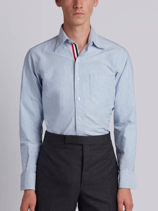 Thom Browne brand new blue shirt with cosgrain Size US XL / EU 56 / 4