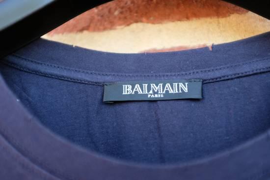 Balmain Navy Blue Distressed T-shirt Size US M / EU 48-50 / 2 - 2