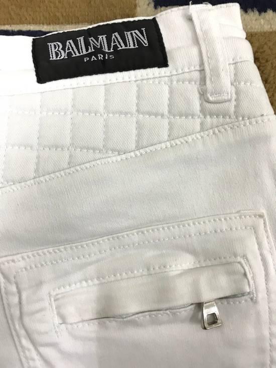 Balmain Balmain Biker All White Denim Jeans Size US 32 / EU 48 - 4