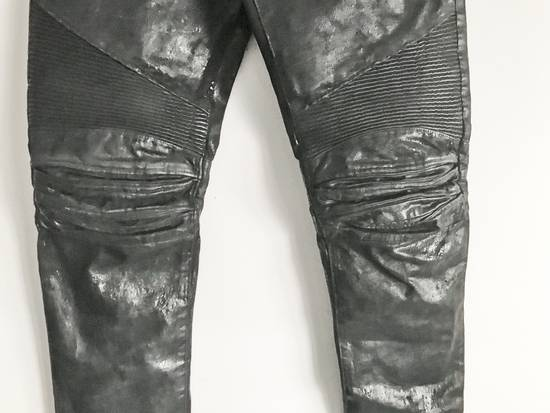 Balmain Brand New Biker Coated Jeans Size US 30 / EU 46 - 3