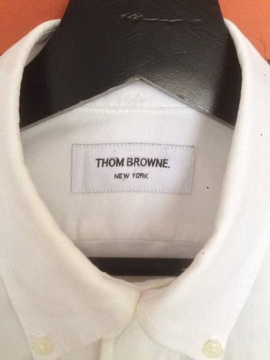 Thom Browne Nice Item !! White Stripe Left Side Thom Browne Button Up Size US M / EU 48-50 / 2 - 9